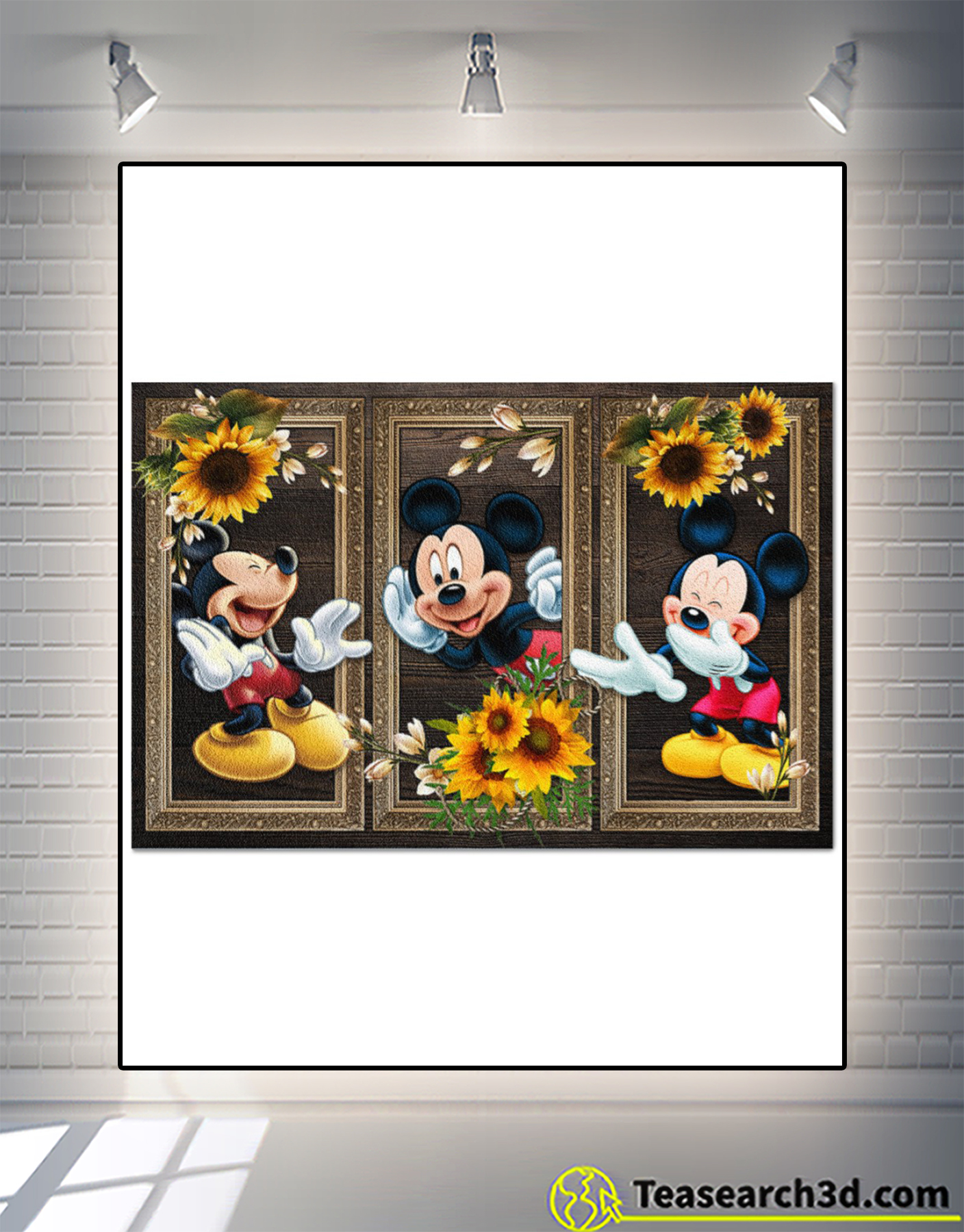 Mickey sunflower doormat