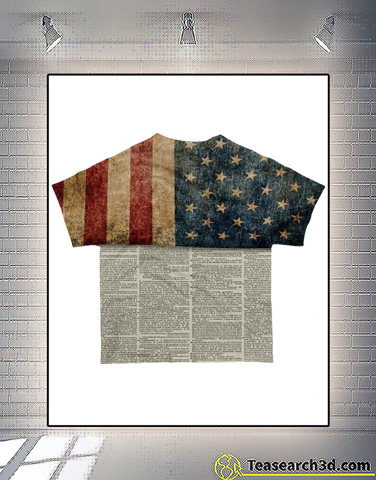 One Nation Under God all over printed 3d shirt back