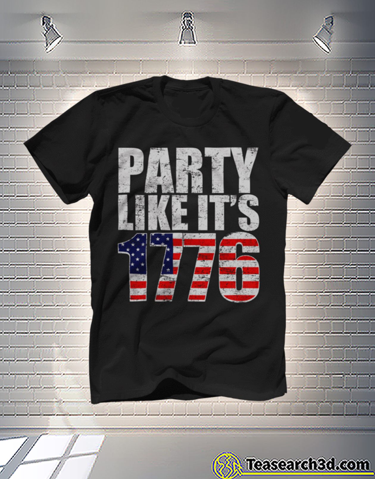 Party like it's 1776 american flag independence day t-shirt