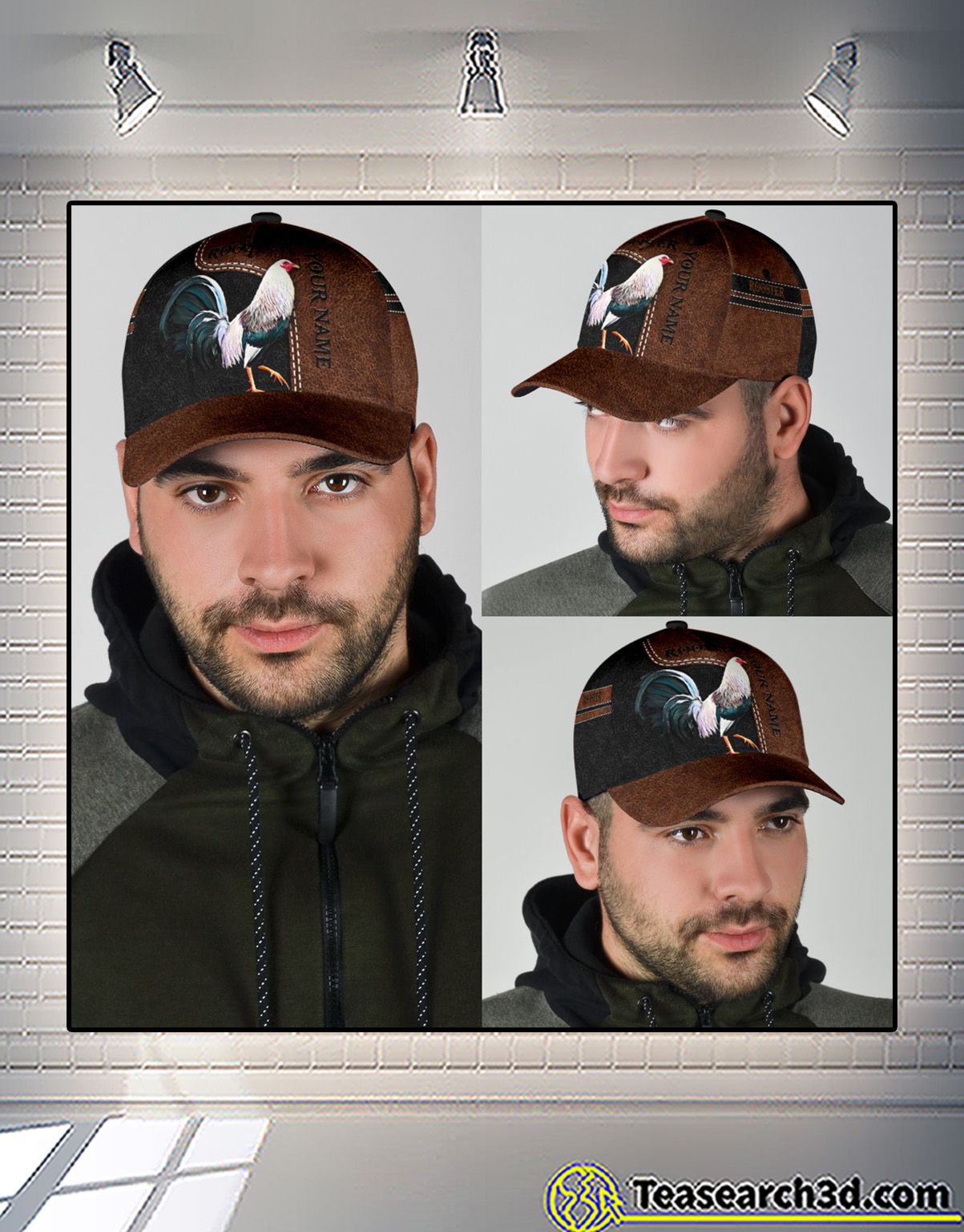 Personalized custom name rooster 3D printed classic cap 1