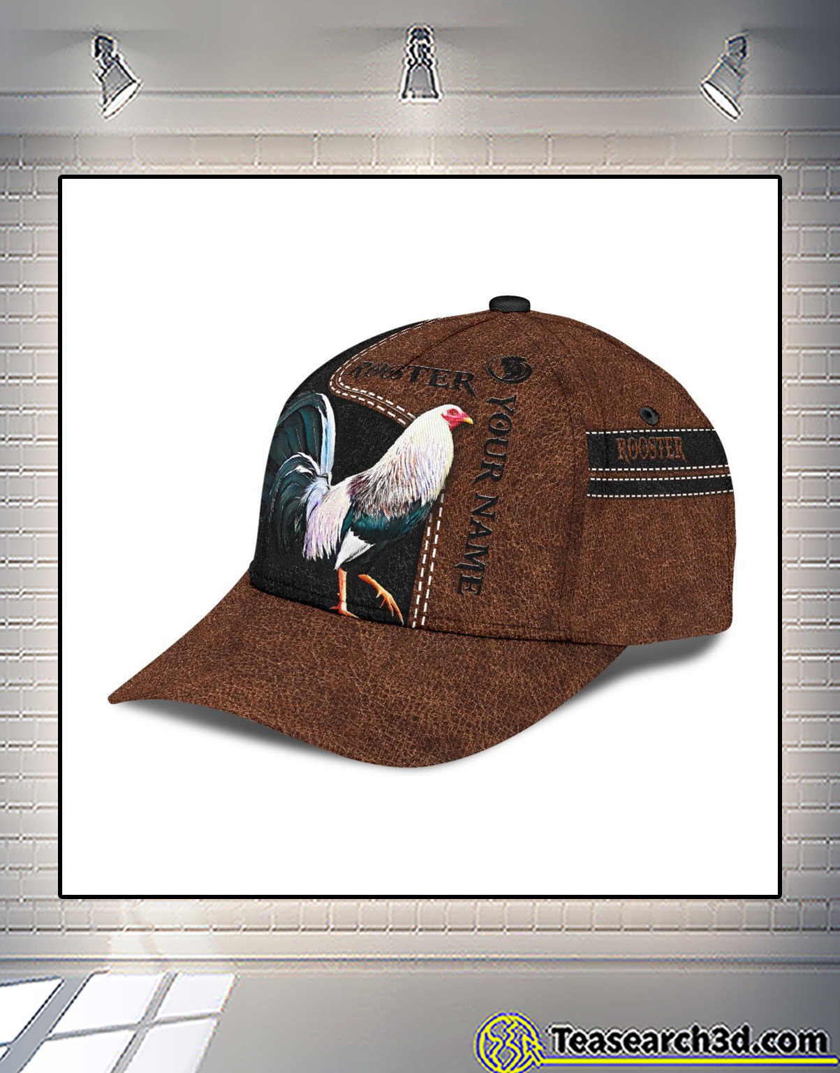 Personalized custom name rooster 3D printed classic cap 2