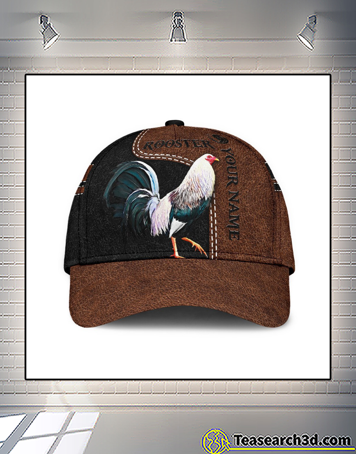 Personalized custom name rooster 3D printed classic cap