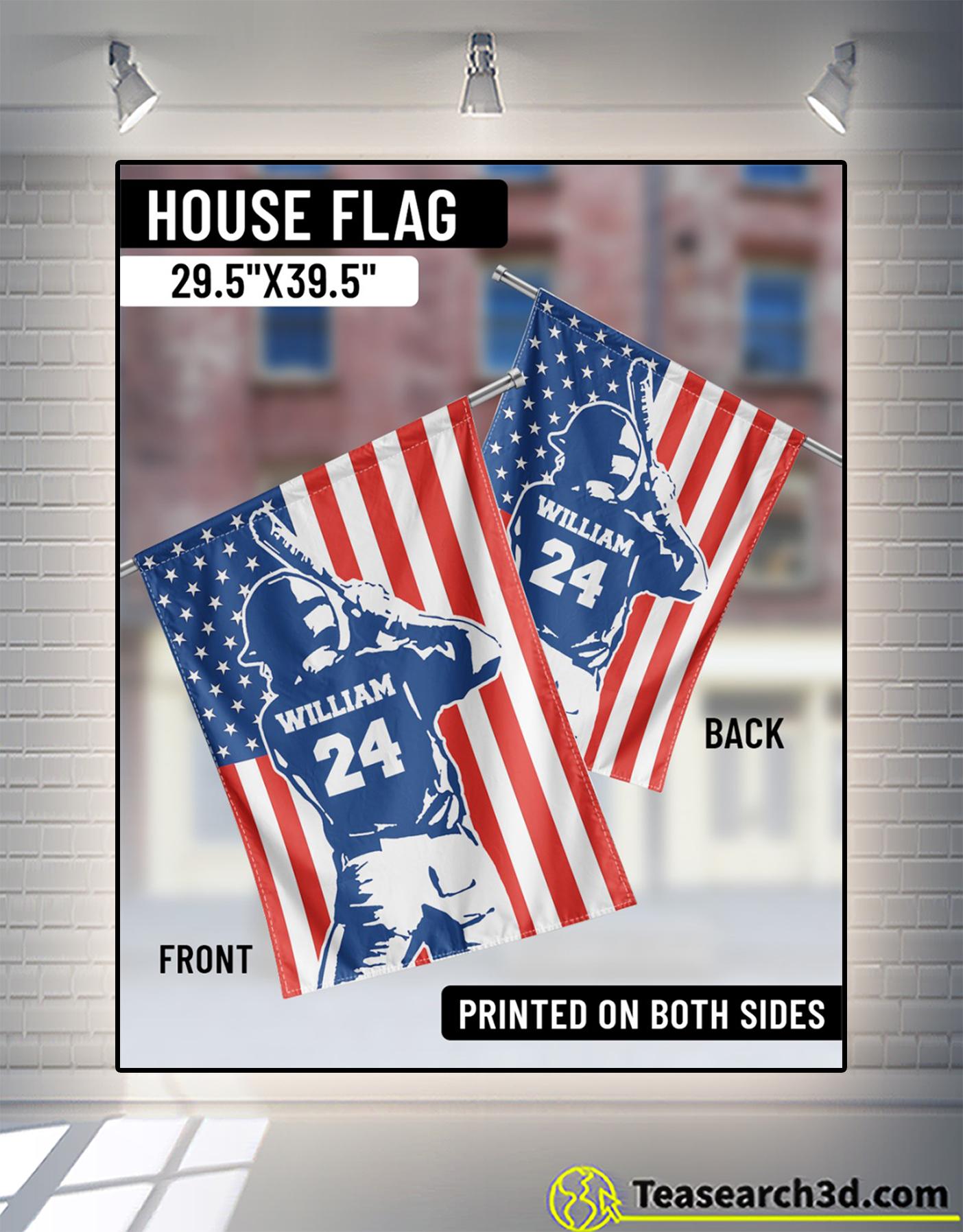 Personalized customize baseball usa flag 2