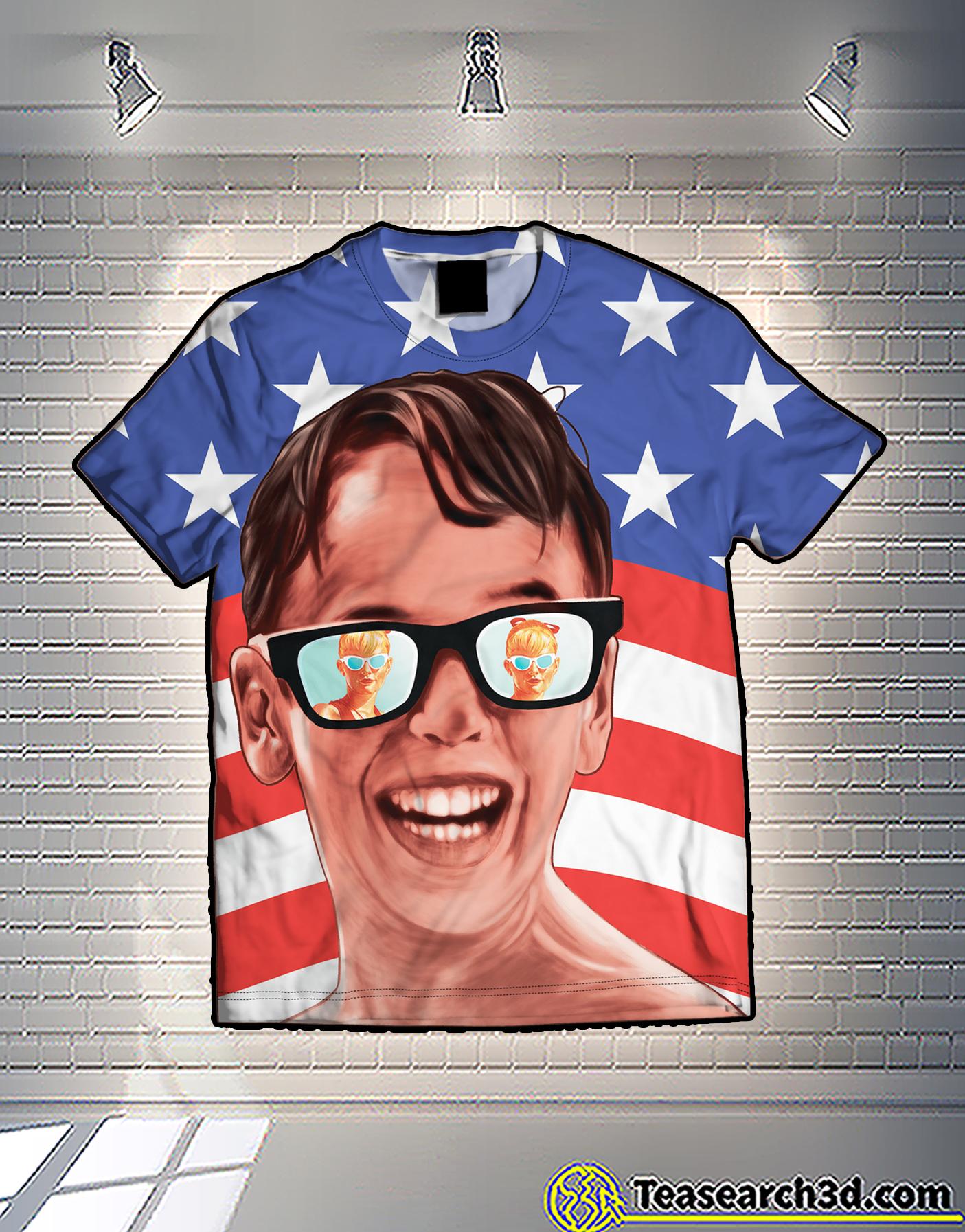 Sandlot patriot american flag 3d shirt