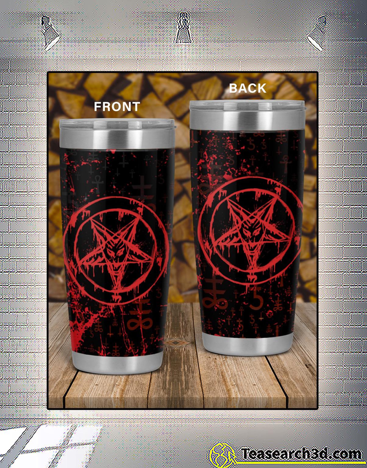 Satan symbol tumbler 1