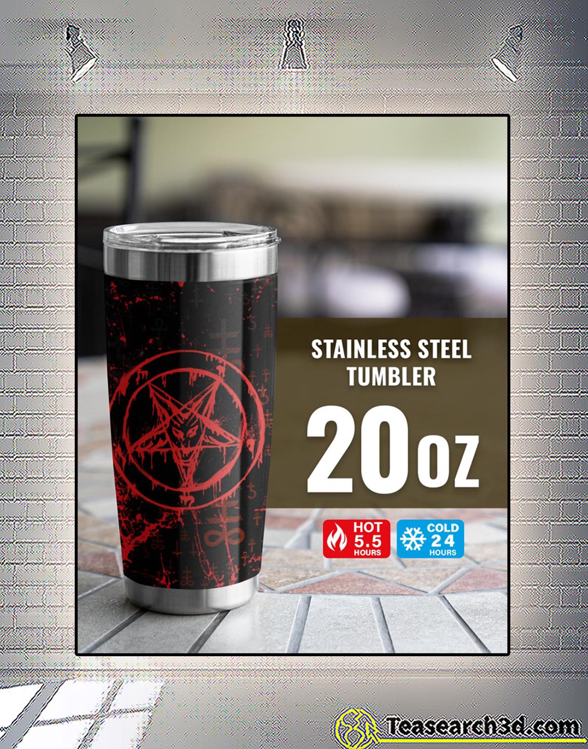 Satan symbol tumbler 2
