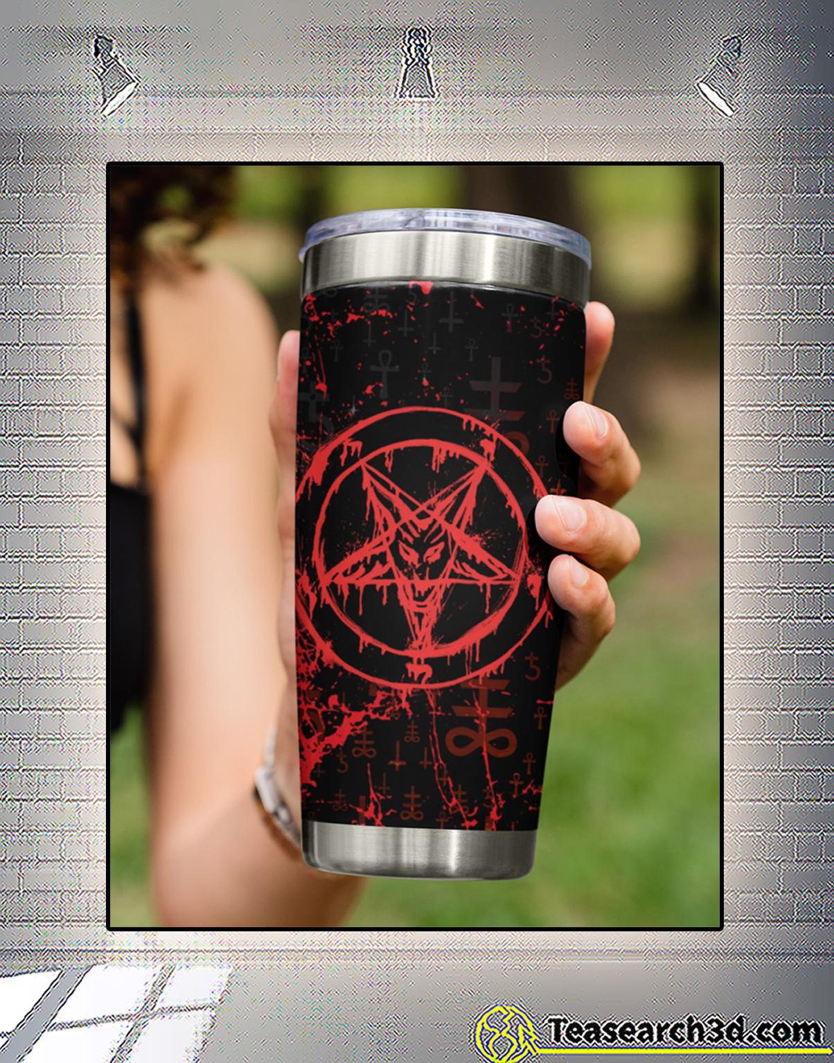 Satan symbol tumbler 3