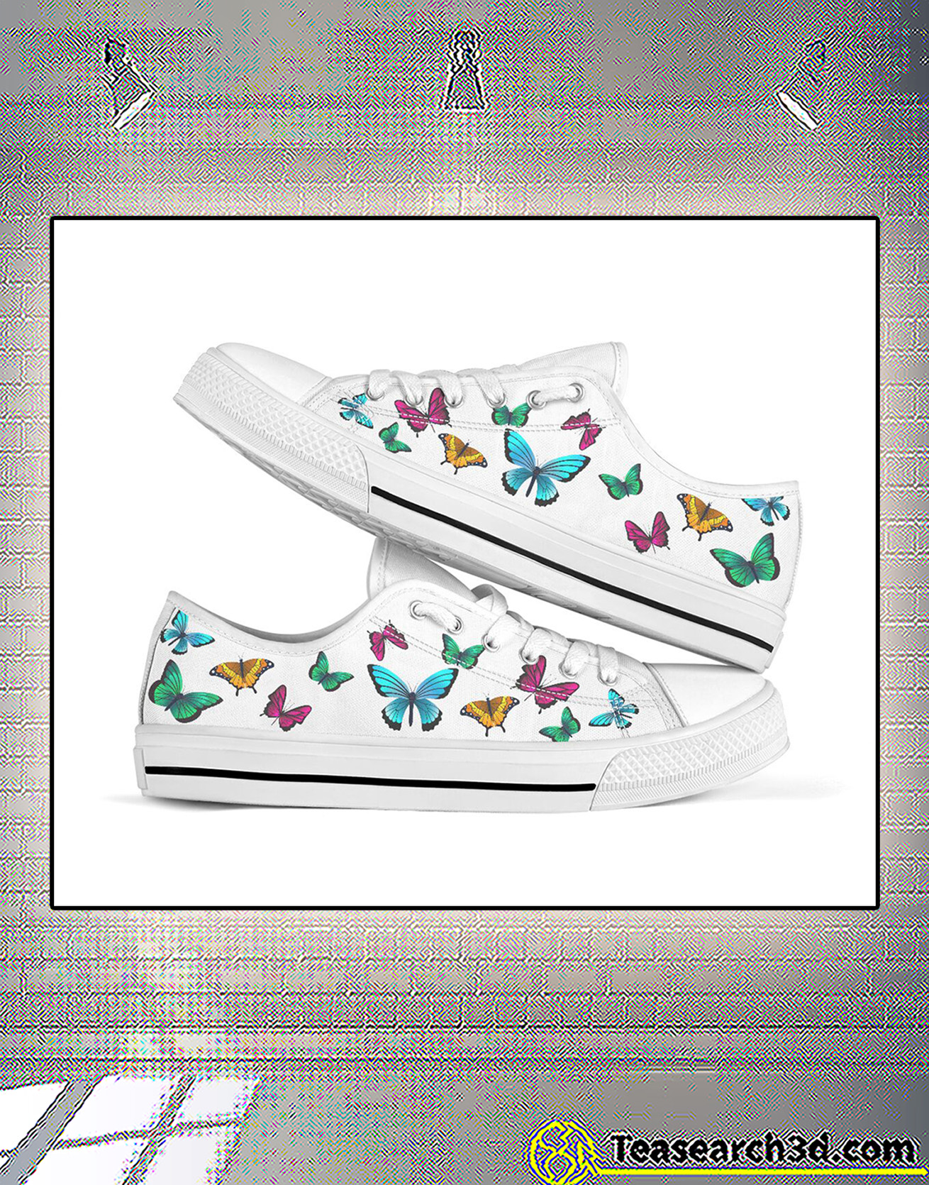 Seamless butterflies low top shoe 1