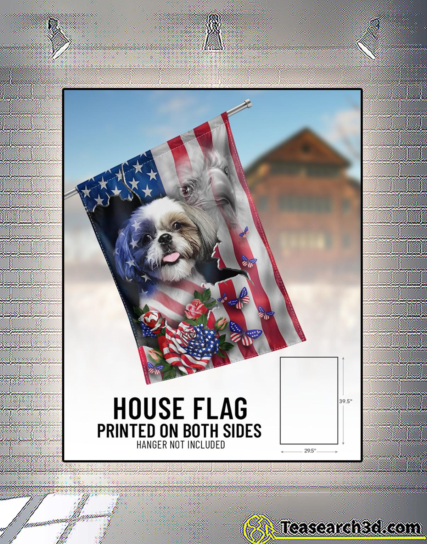 Shih tzu proud nation flag 1