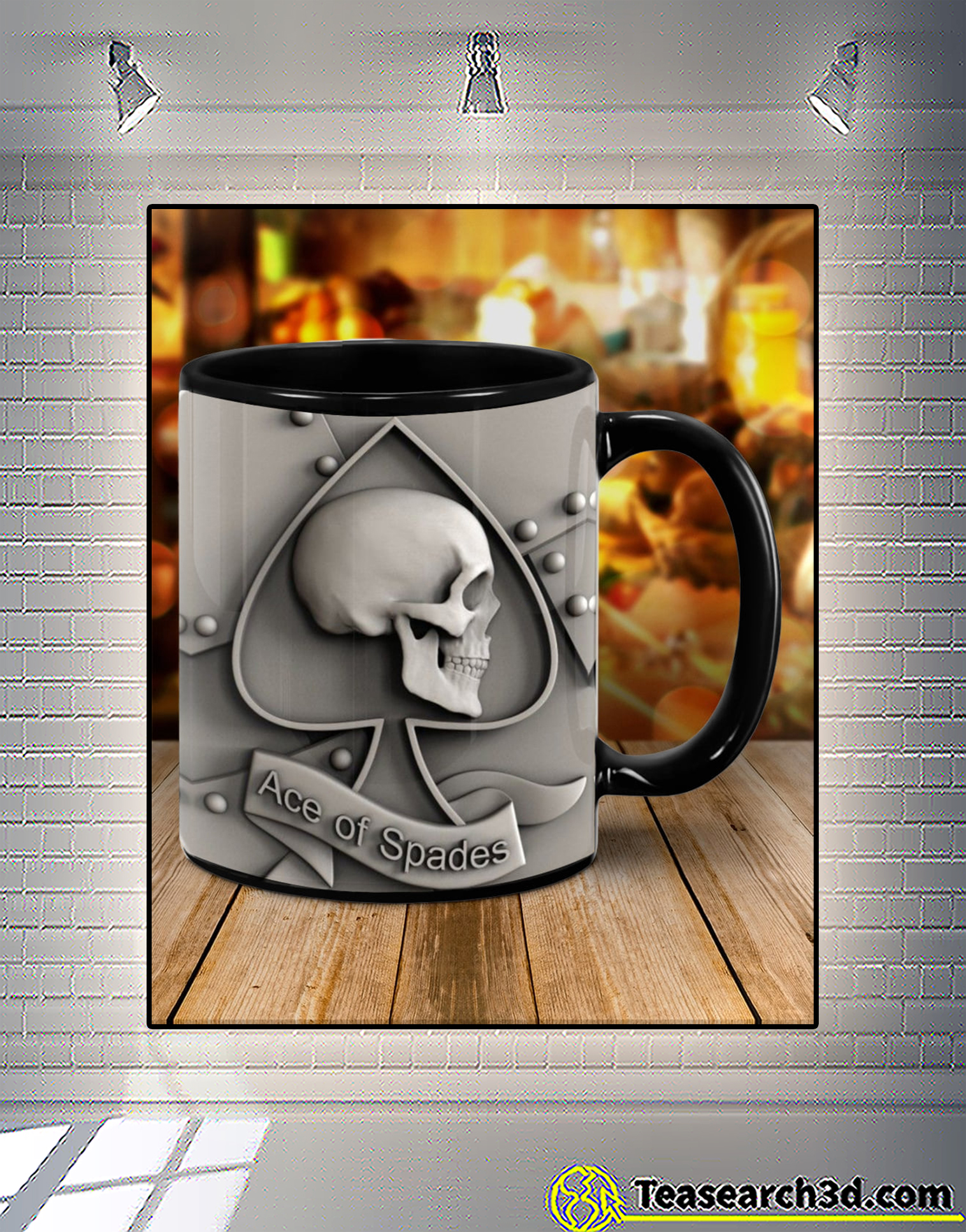 Skull hearts ace of spades mug