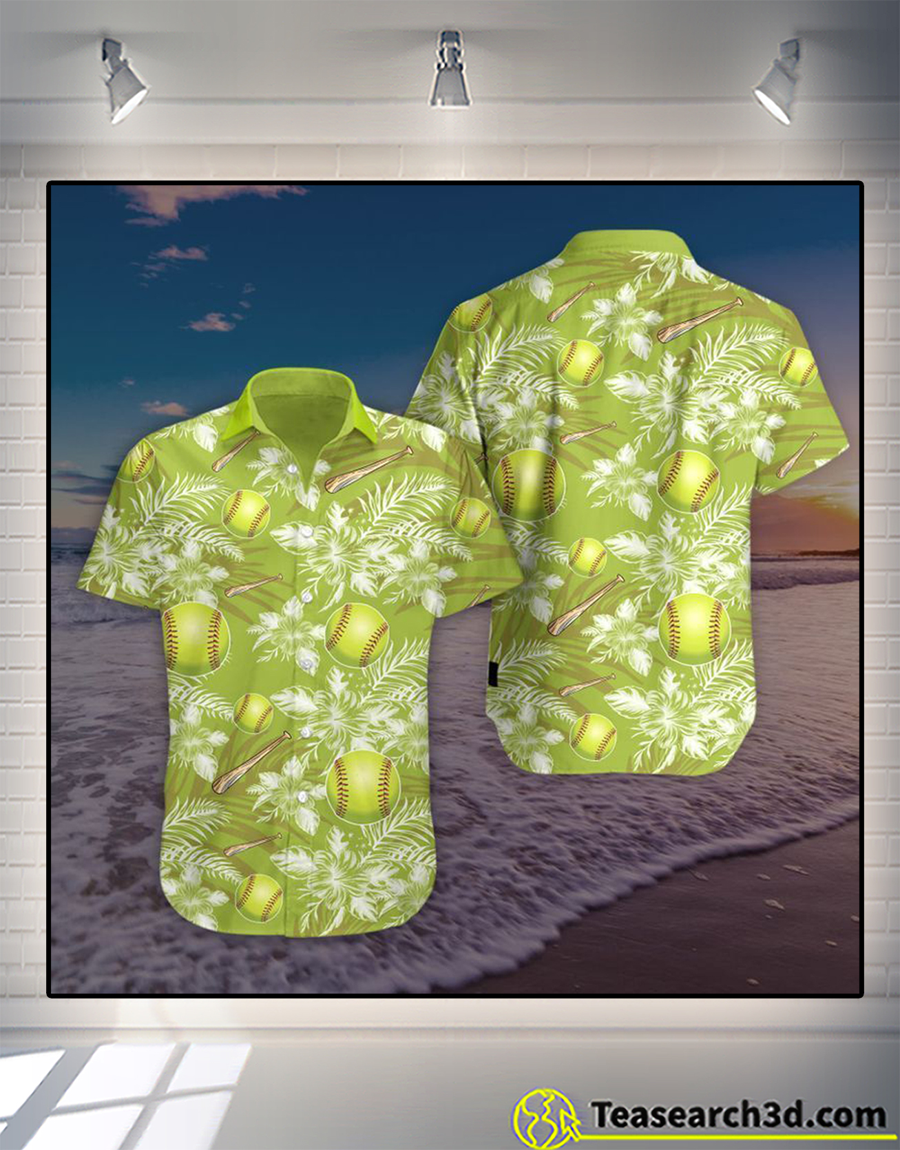 Softball hawaiian shirt