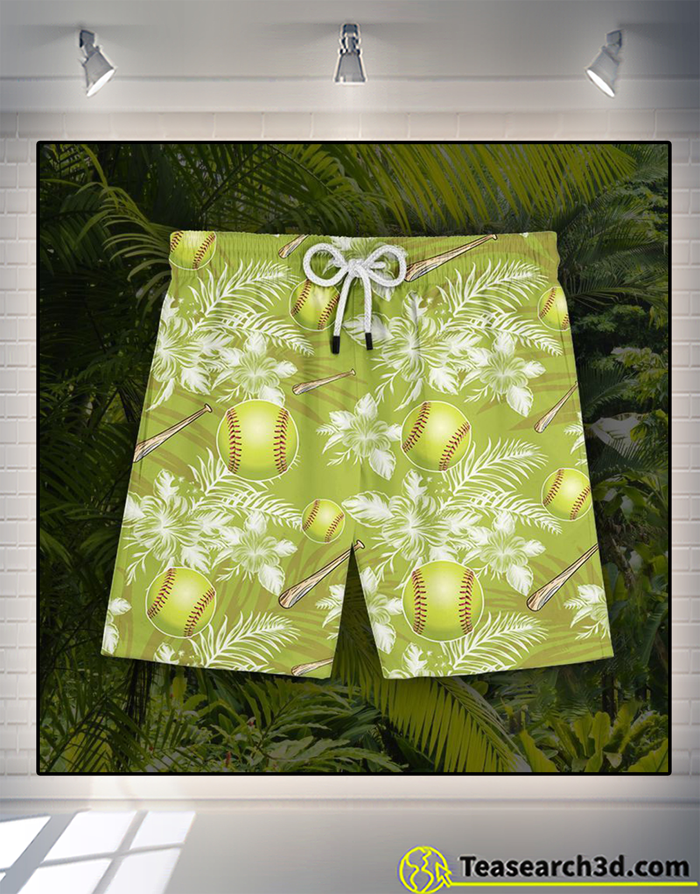Softball hawaiian short