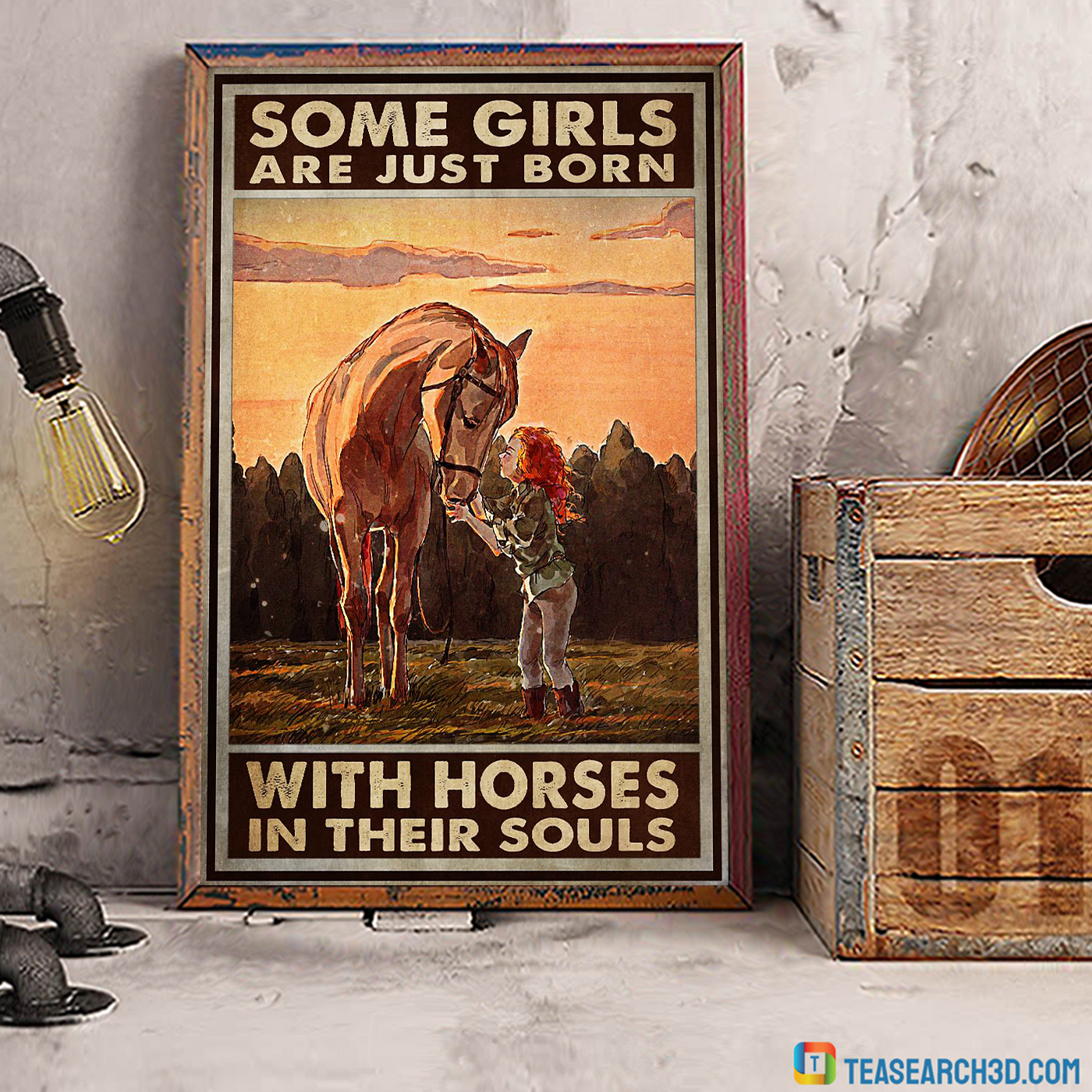 Some girls are just born with horses in their souls poster A1