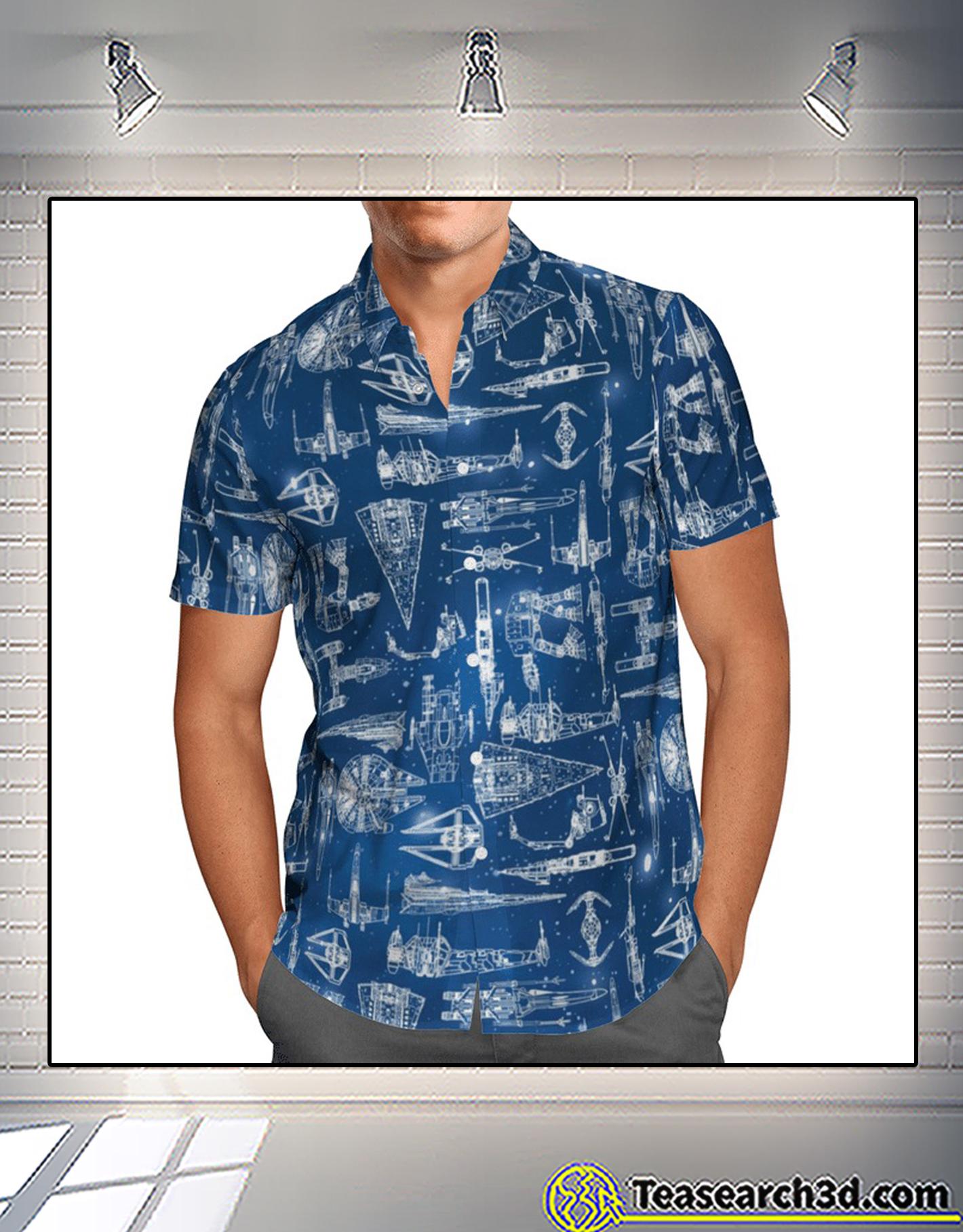 Star wars ship hawaiian shirt 1