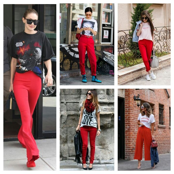 Suggest outfits with red color for outstanding outlook