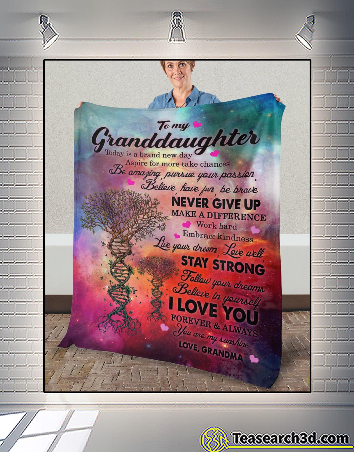 To my granddaughter love grandma fleece blanket 2
