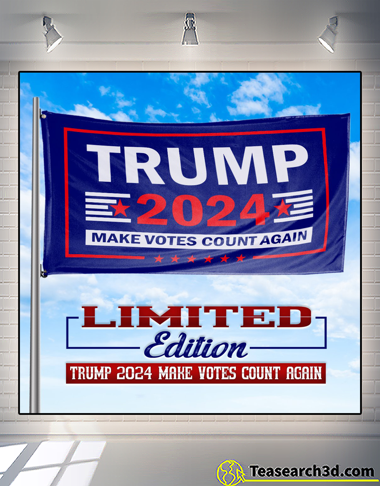 Trump 2024 make votes count again flag