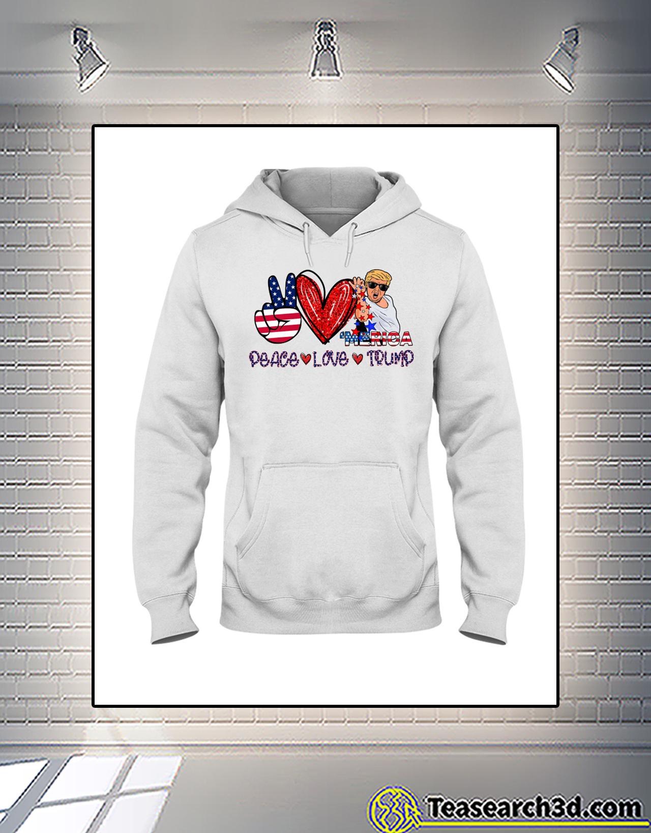 Trump Salt bae merica peace love trump hoodie