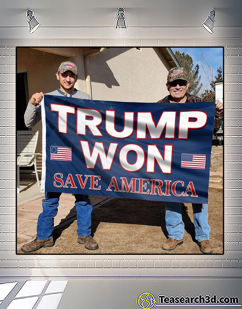Trump won save america flag 2