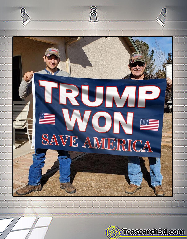 Trump won save america flag