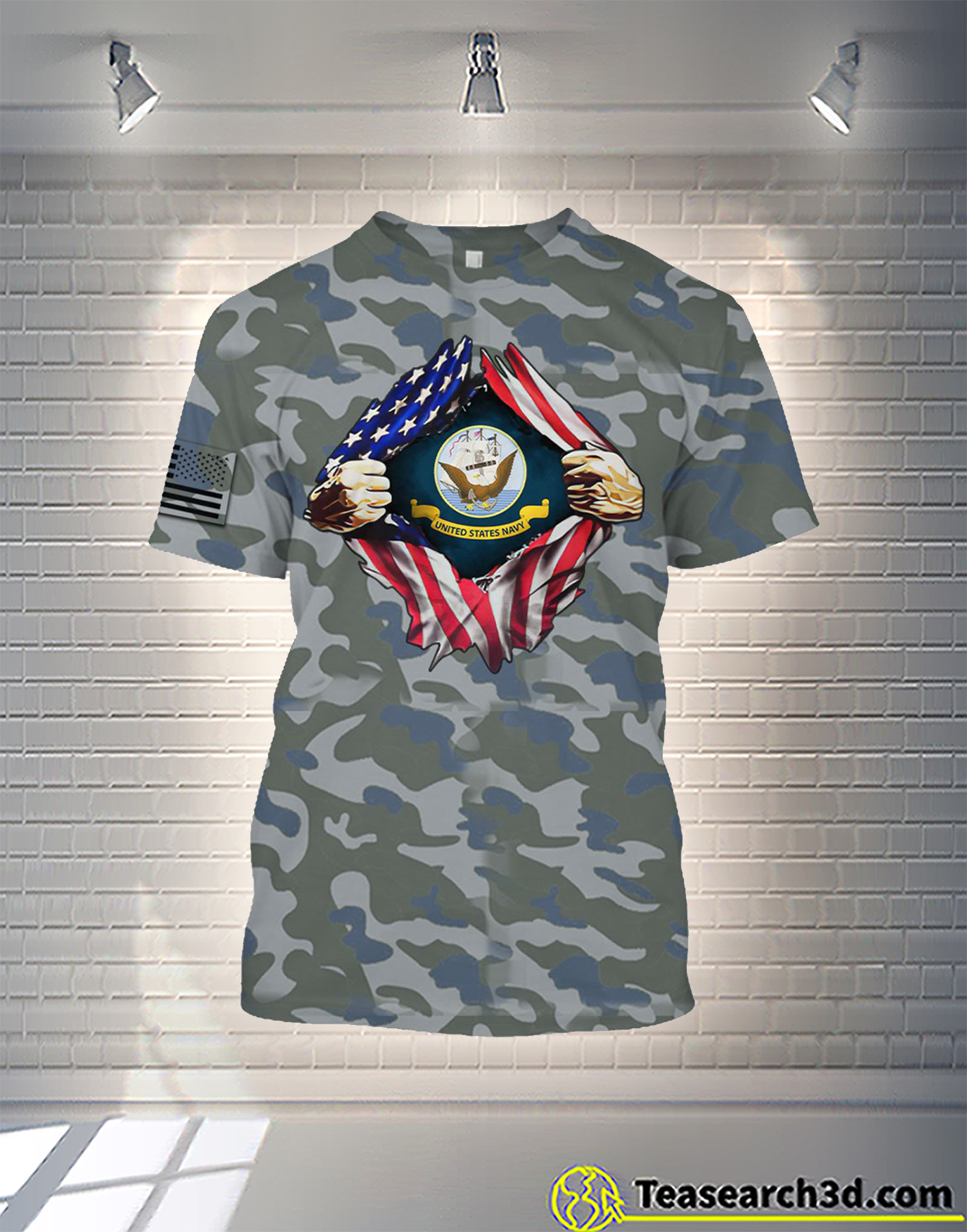 United States Navy camo all over printed shirt