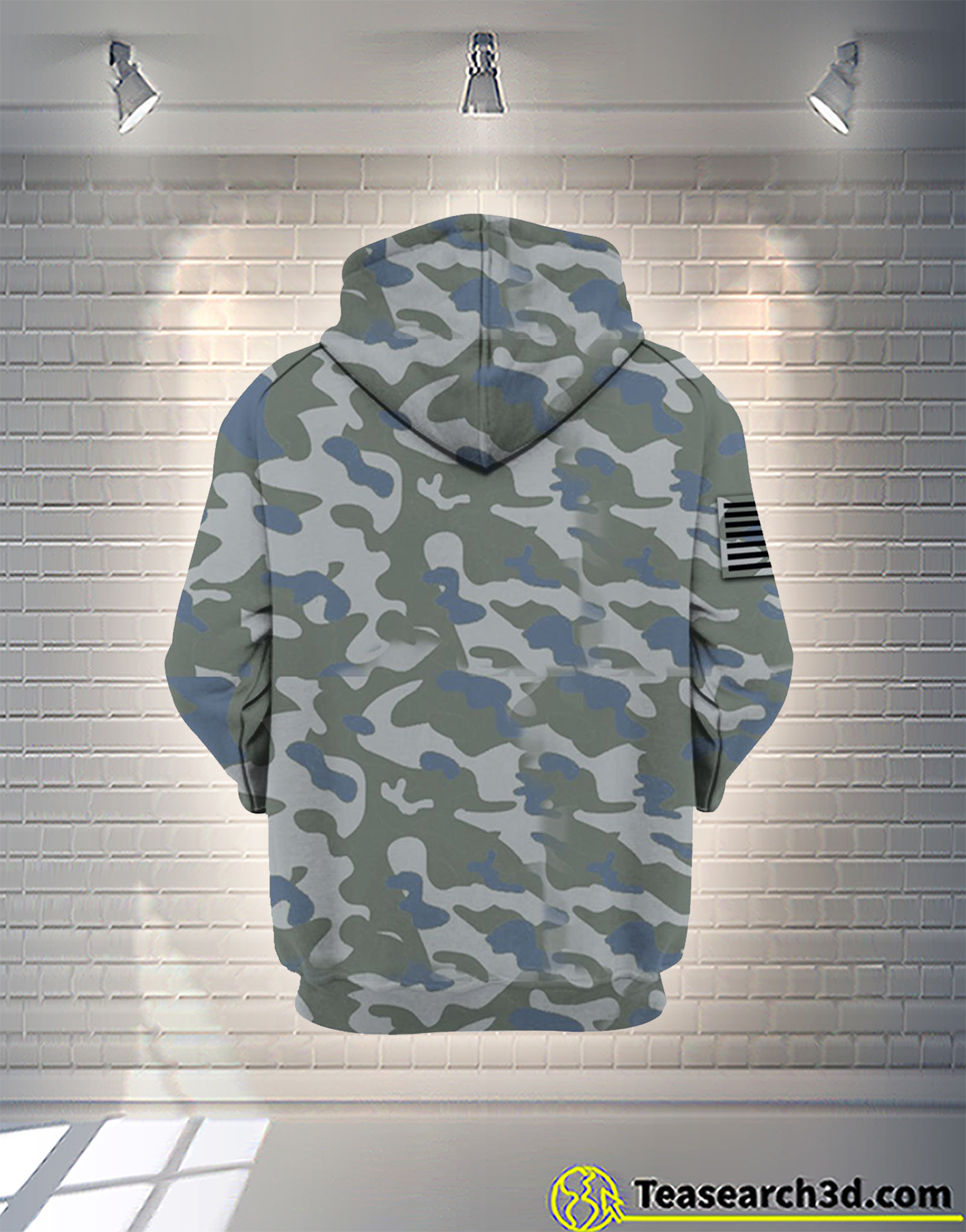 United States Navy camo all over printed zip hoodie