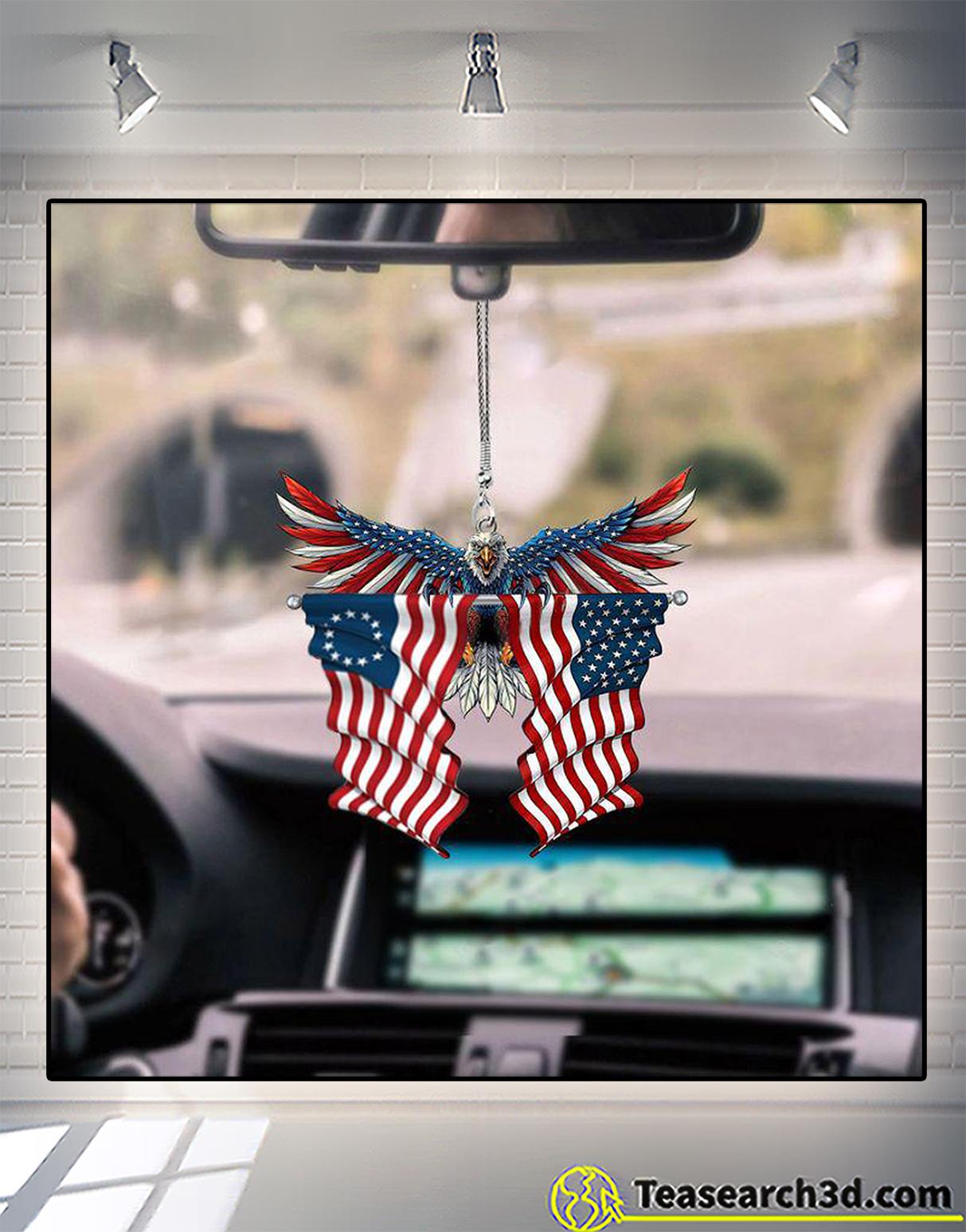 United state american flag eagle ornament 2