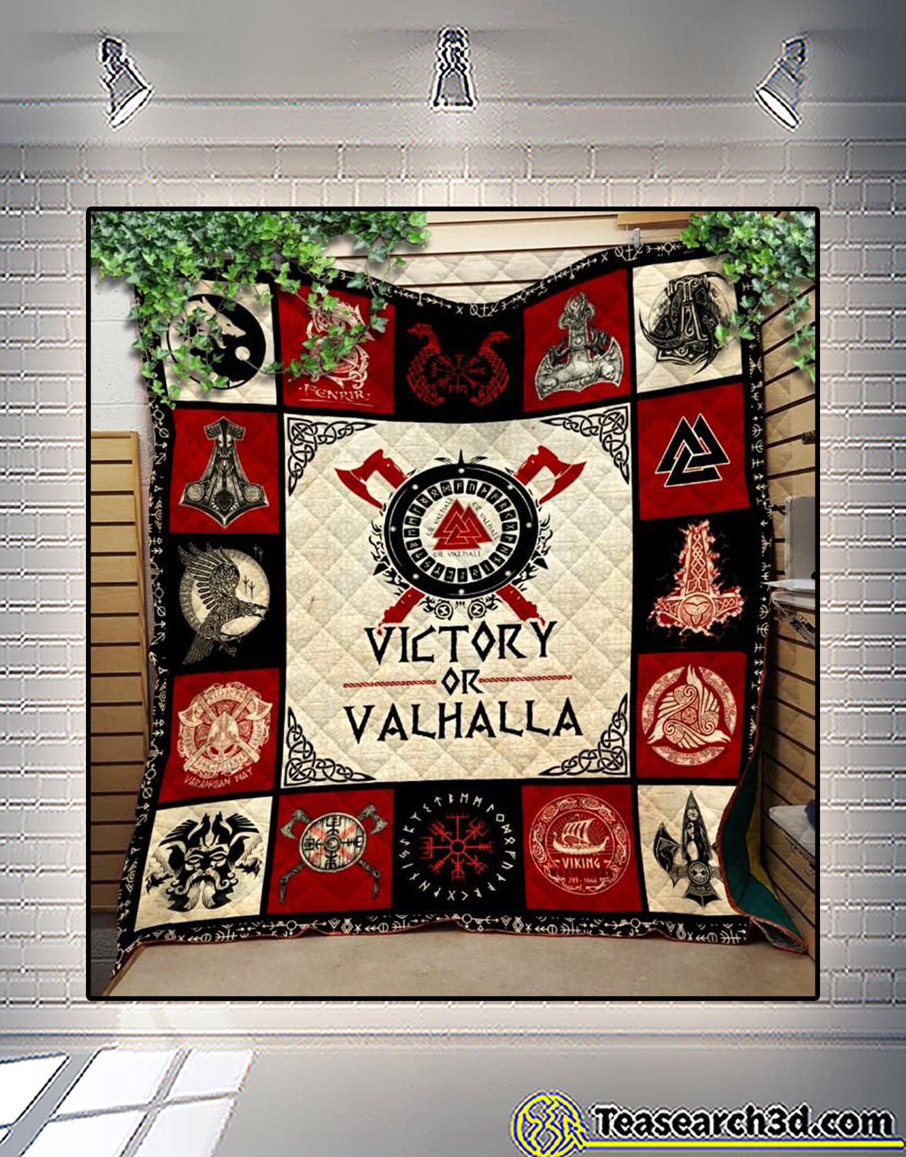 Viking victory or valhalla quilt blanket 1
