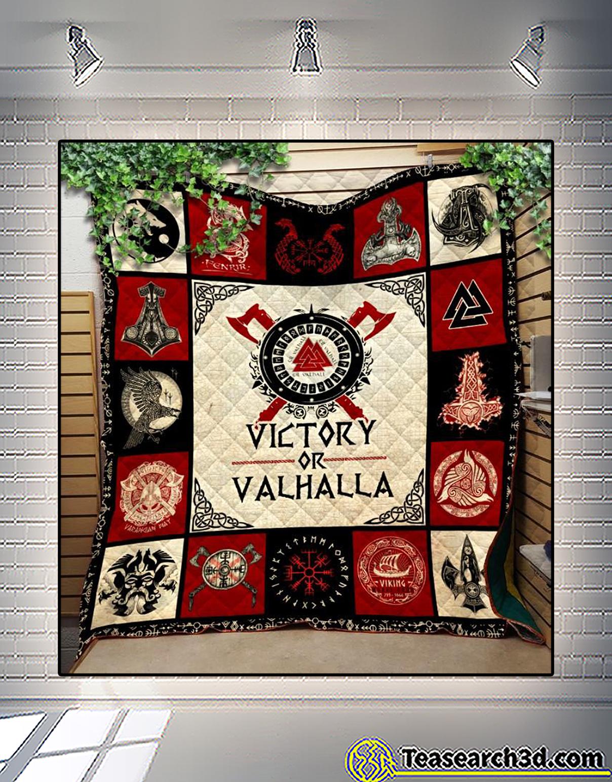 Viking victory or valhalla quilt blanket 2