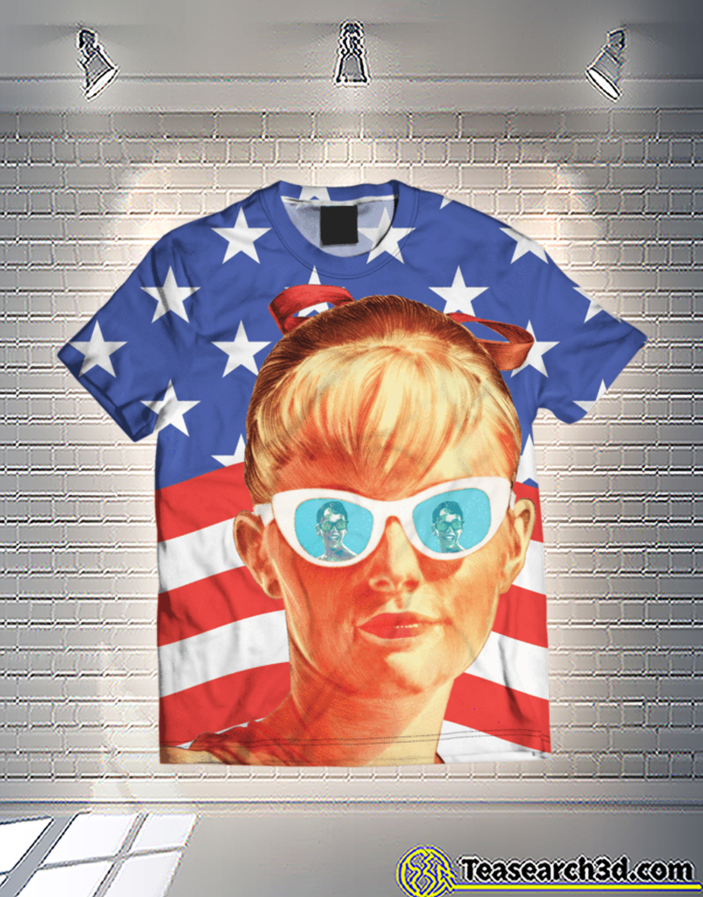 Wendy patriot american flag 3d shirt