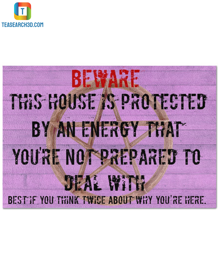 Witch beware this house is protected doormat
