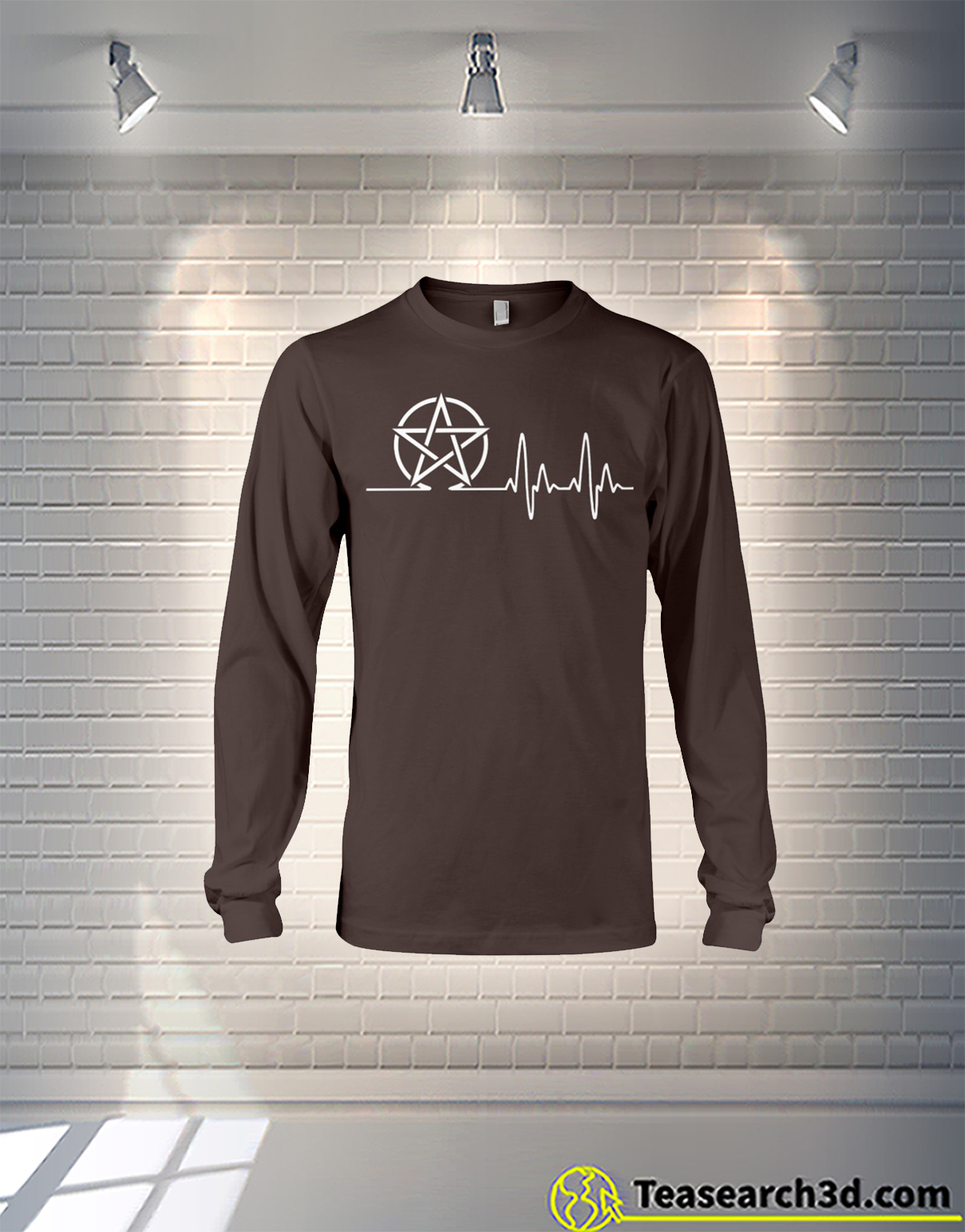 Witch symbol heartbeat long sleeve