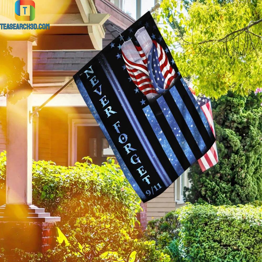 9-11 Never Forget Memorial Flag 1