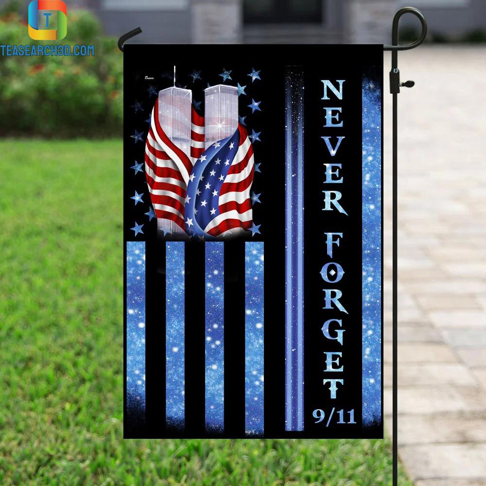 9-11 Never Forget Memorial Flag 2