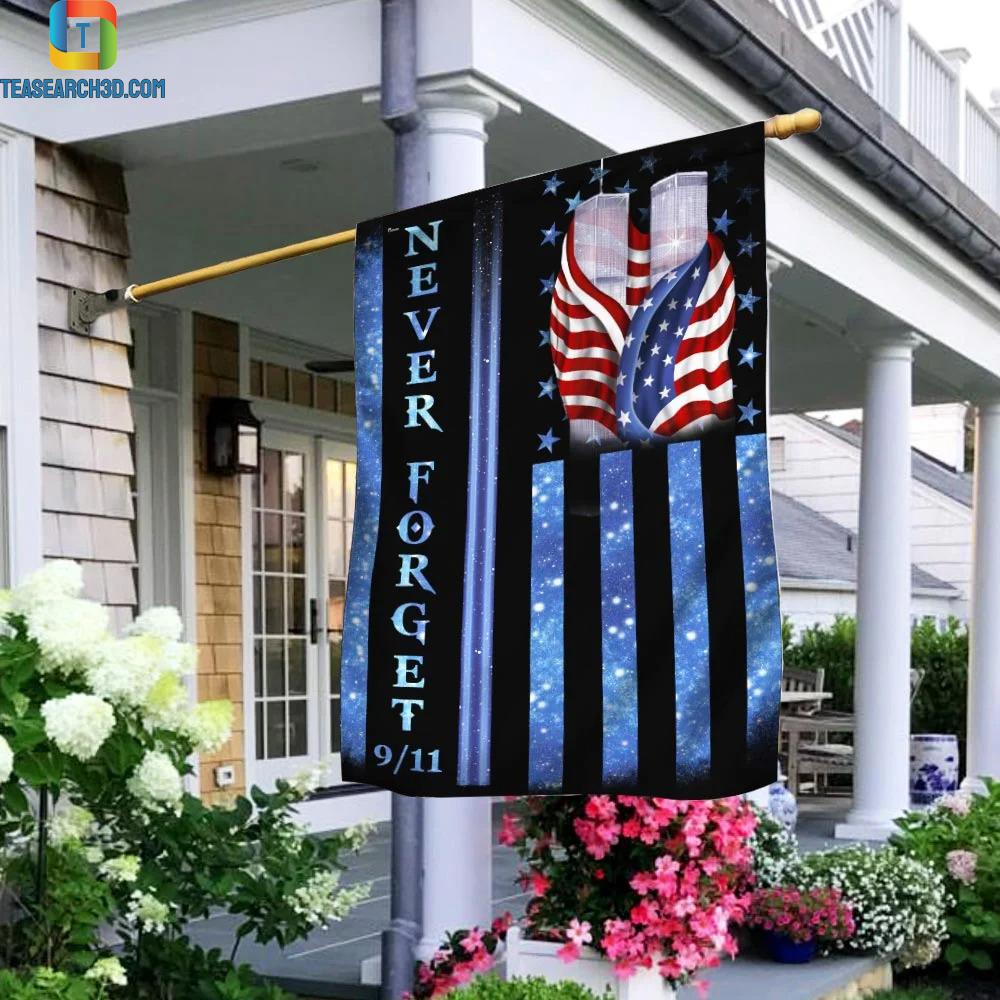 9-11 Never Forget Memorial Flag 3