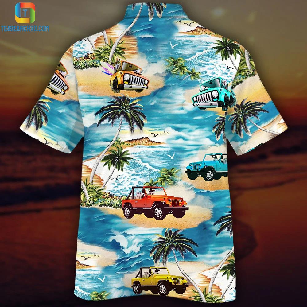 Beach and jeeps hawaiian shirt 1