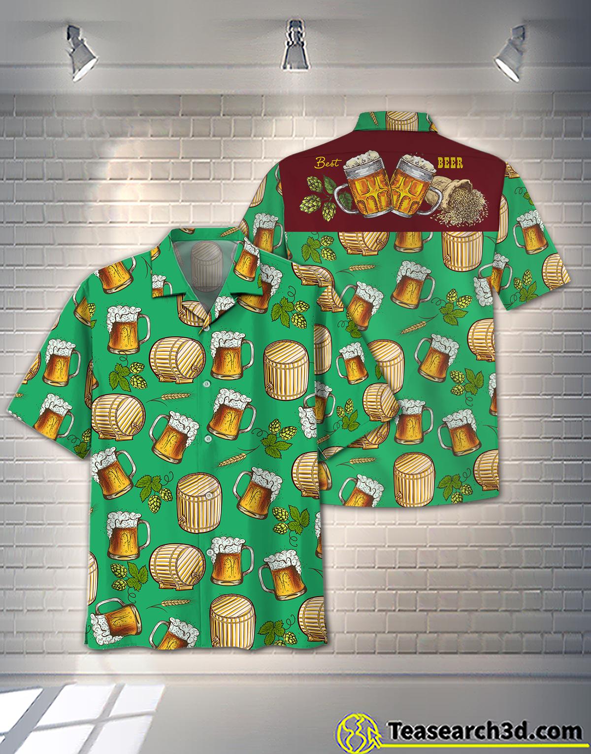 Beer Pattern Hawaiian Shirt Beach Short