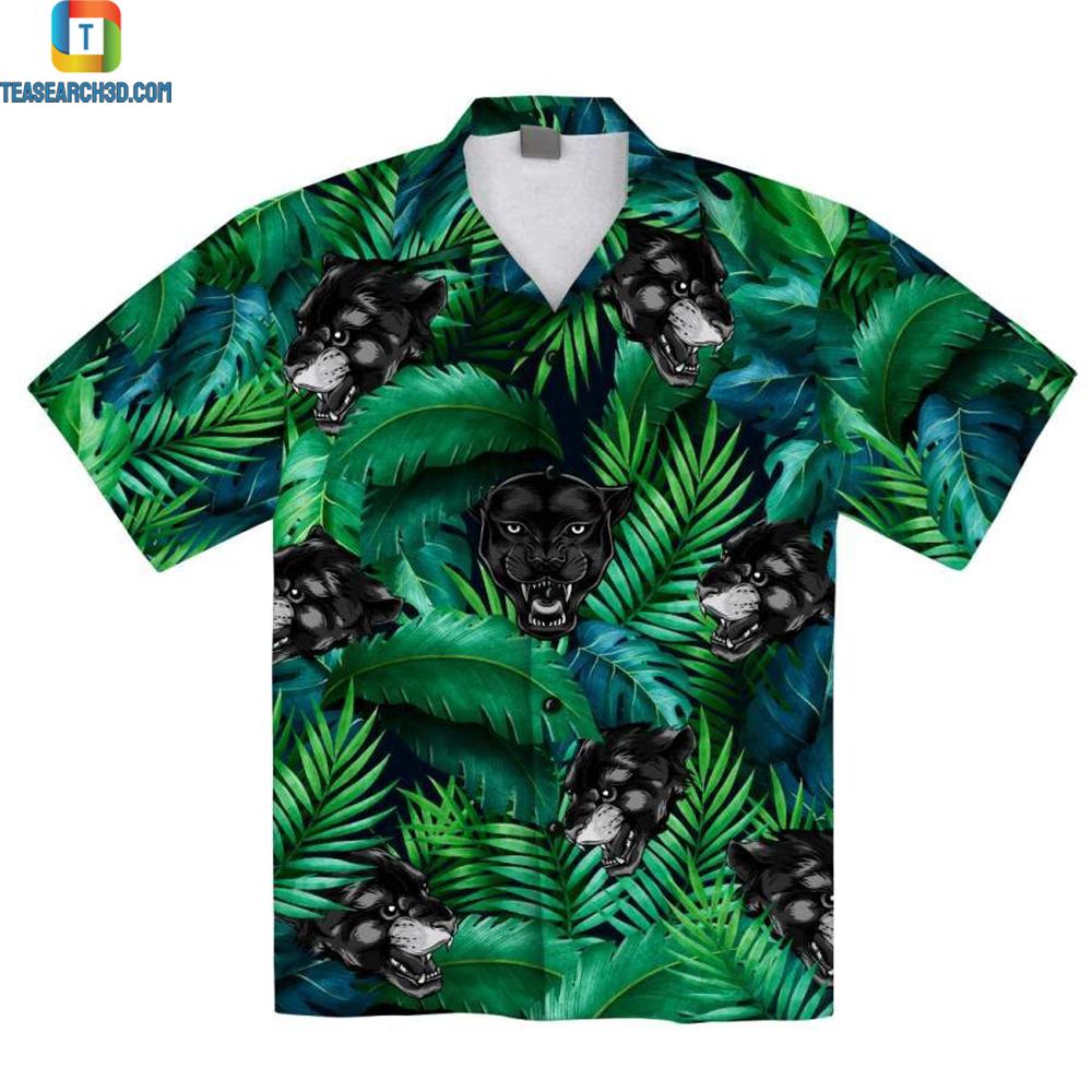 Black Panther Tropical Hawaiian Aloha Shirt 1