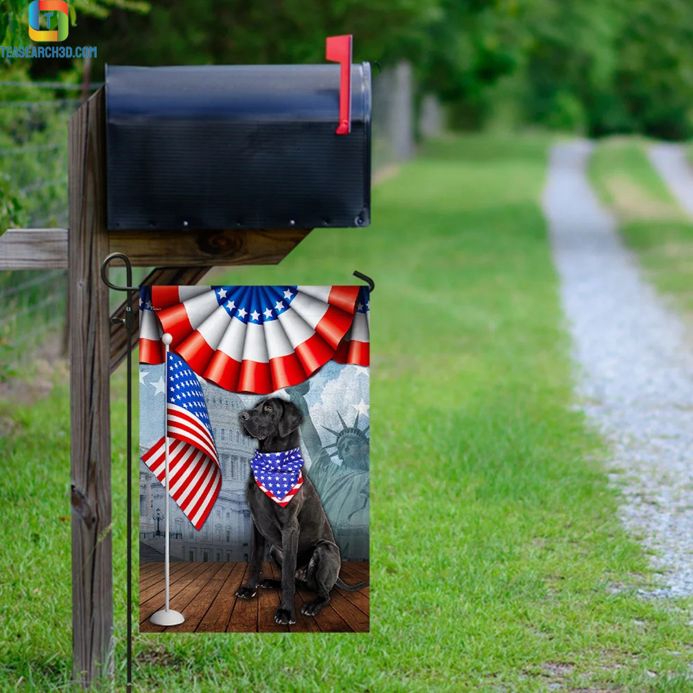 Black labrador retriever 4th of july independence day flag 3