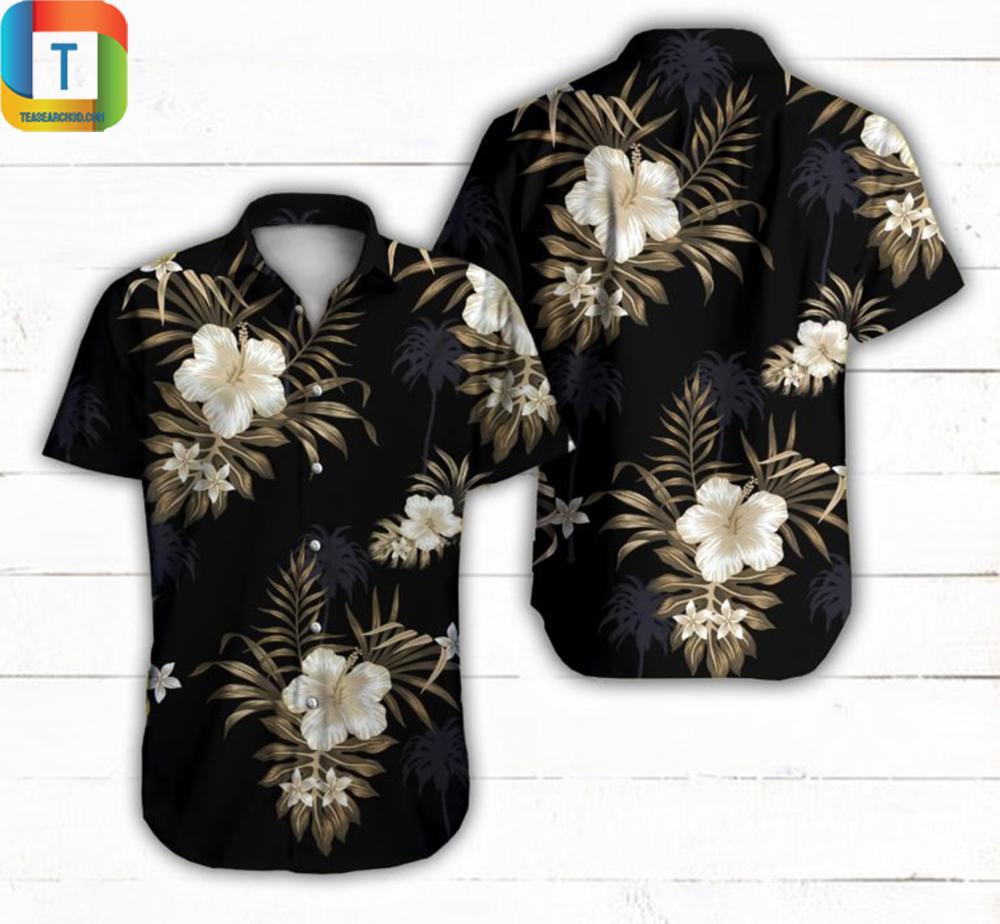 Blackberry Black Hawaiian Shirt