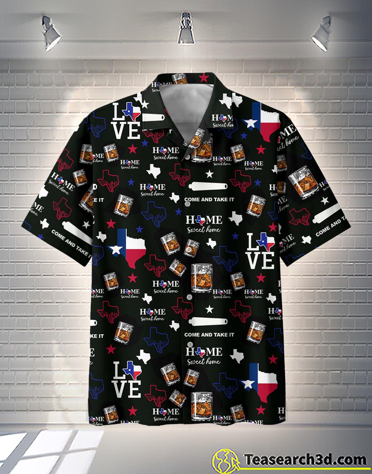 Bourbon Whiskey Texas Hawaiian Shirt Beach Short