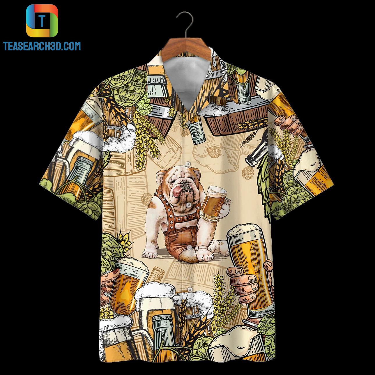 Bulldog beer hawaiian shirt 1