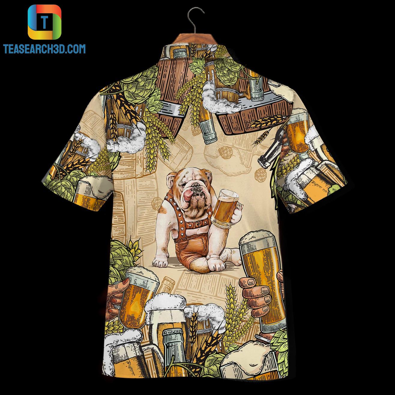 Bulldog beer hawaiian shirt 2