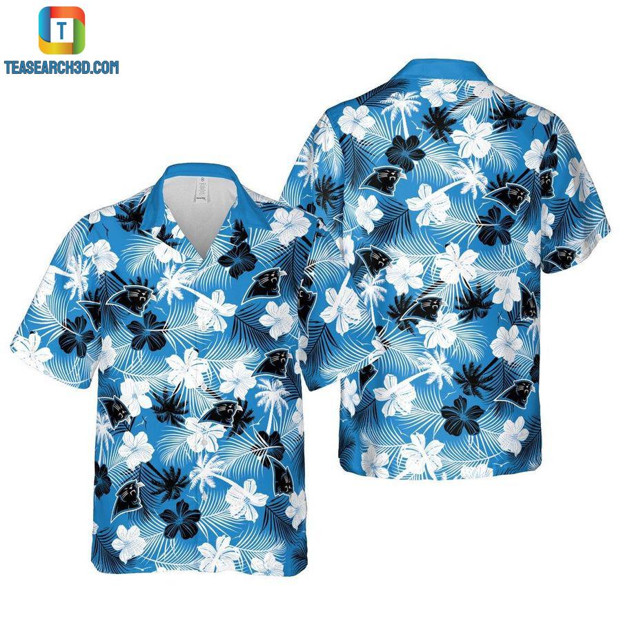 Carolina panthers floral nfl football hawaiian shirt