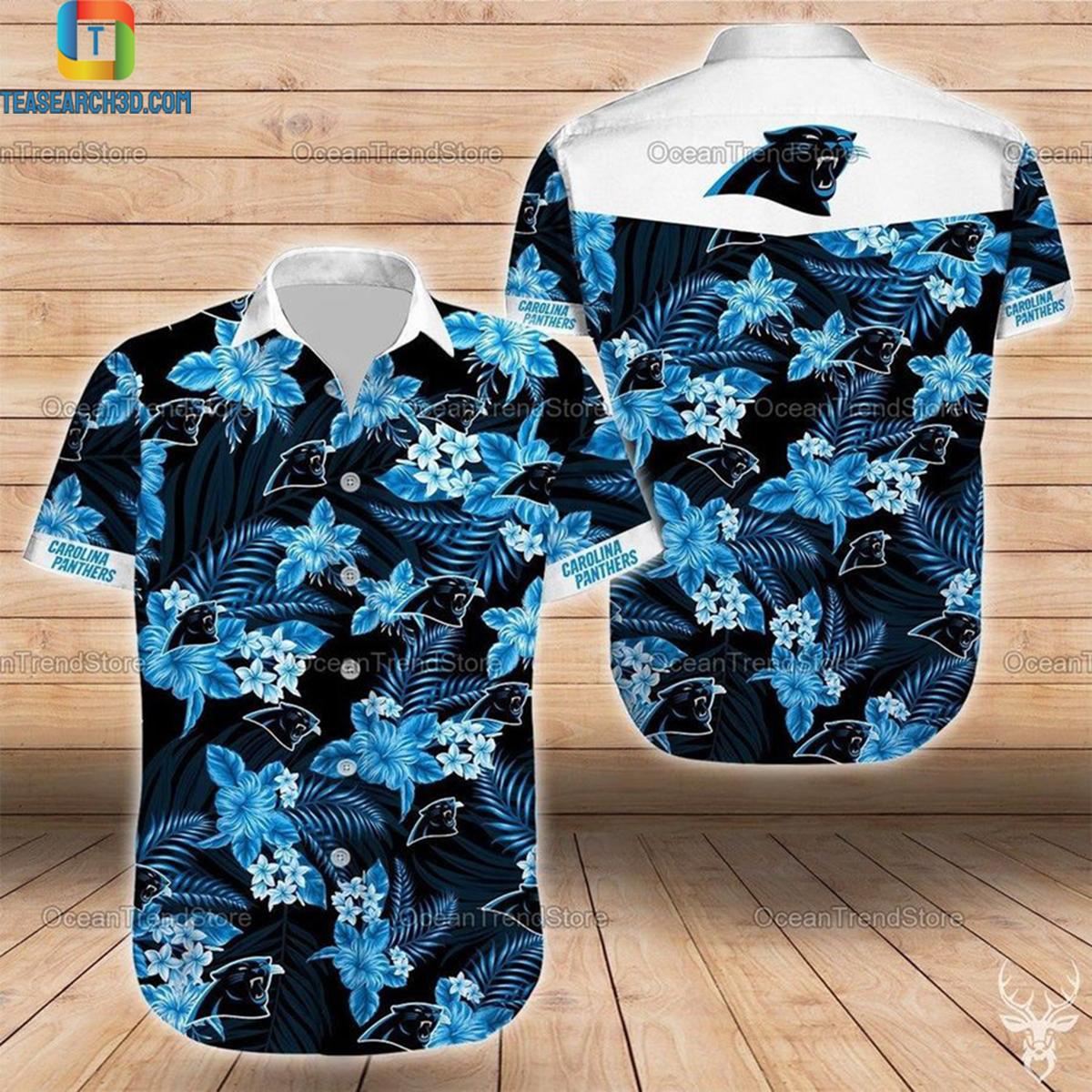 Carolina panthers nfl football hawaiian shirt 2