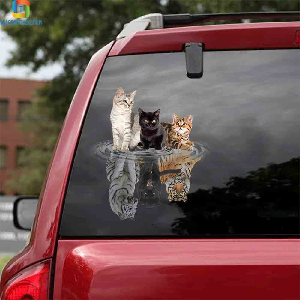 Cats shade tigers animal car decal sticker