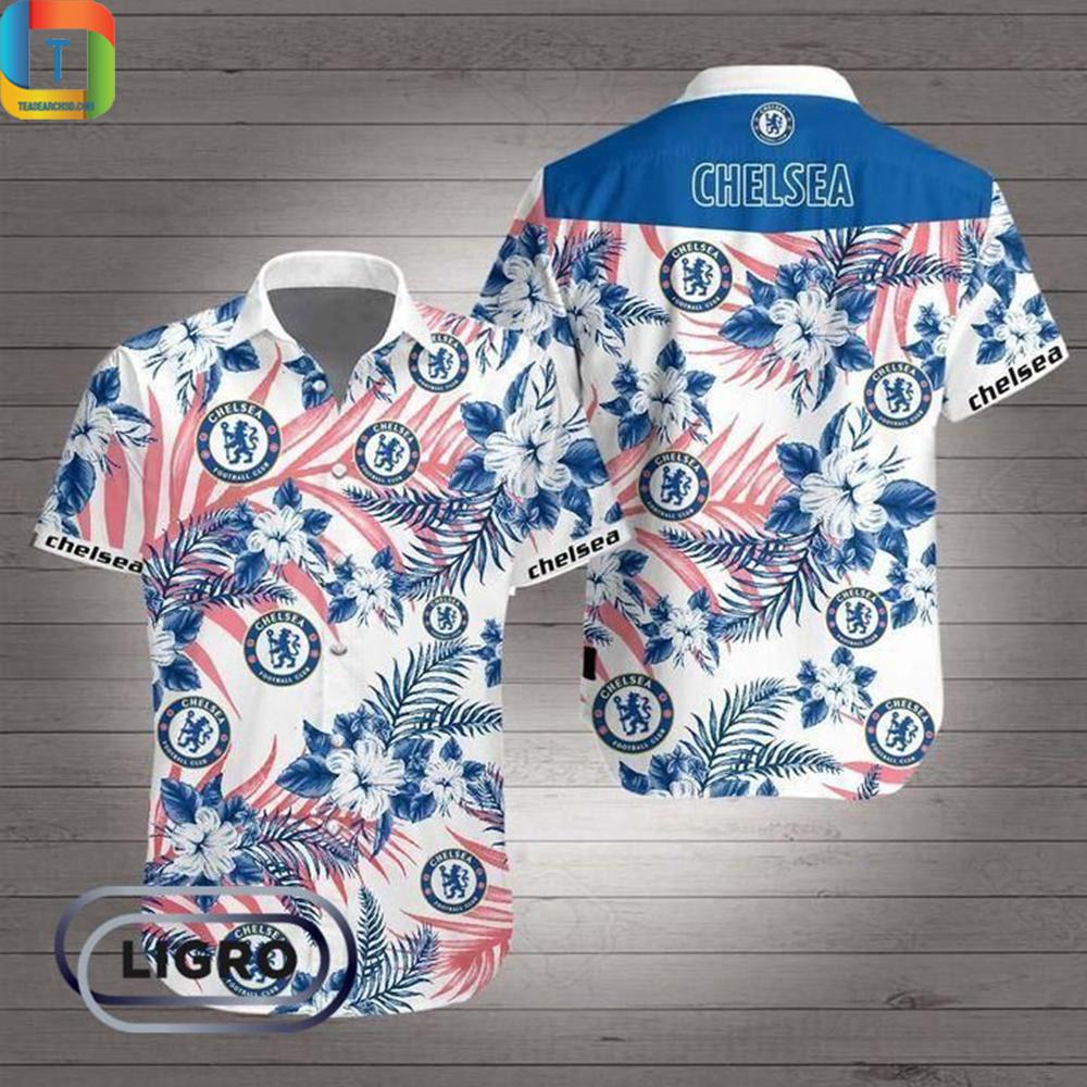Chelsea Premier League Football Hawaiian Shirt