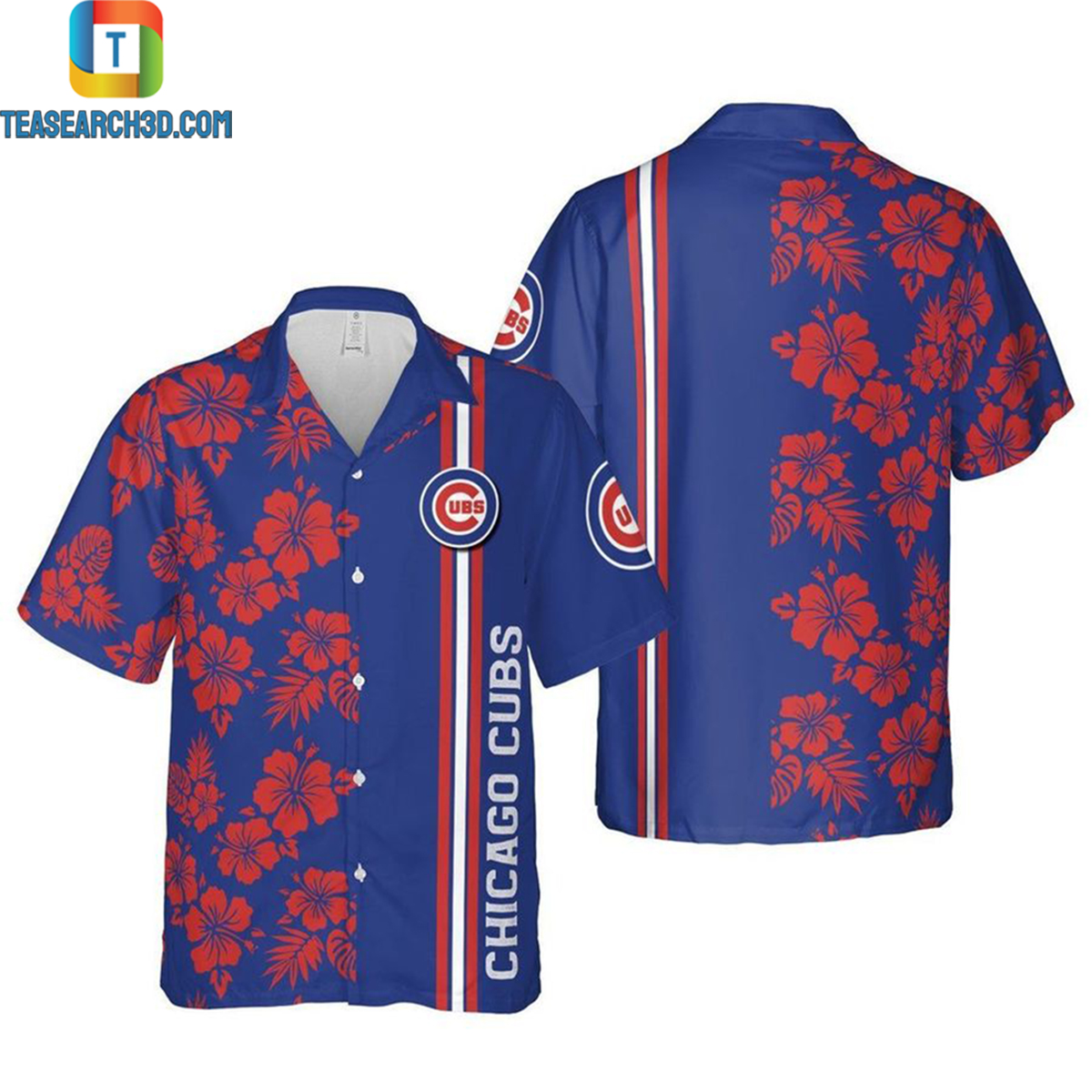 Chicago cubs mlb chicago illinois nfl football hawaiian shirt 2