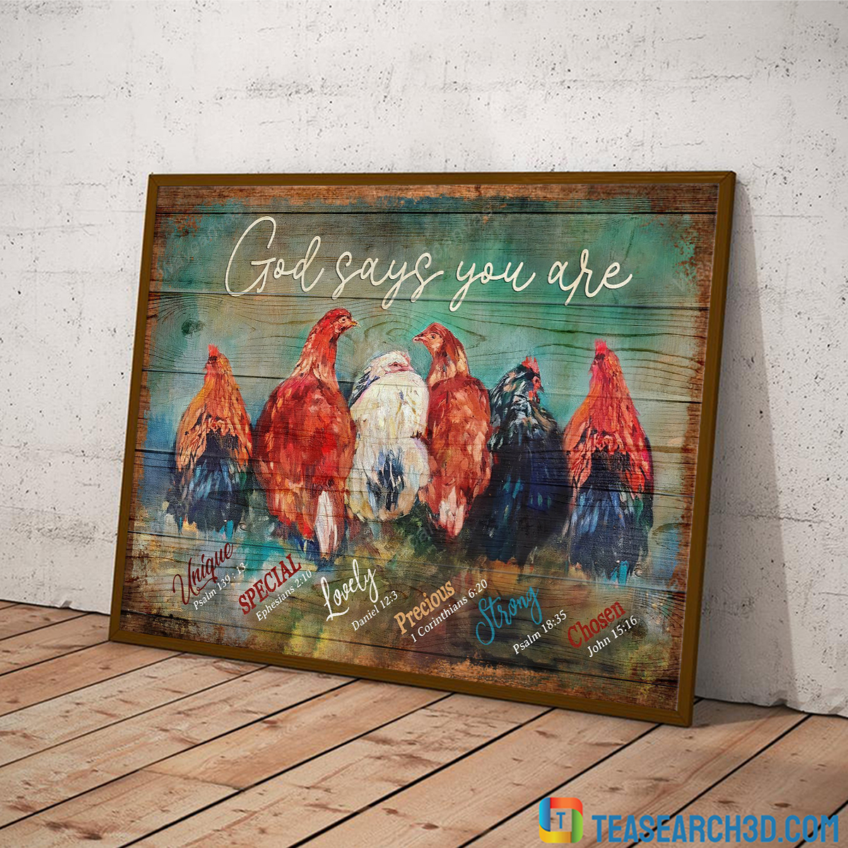 Awesome Chickens god says you are jesus canvas large