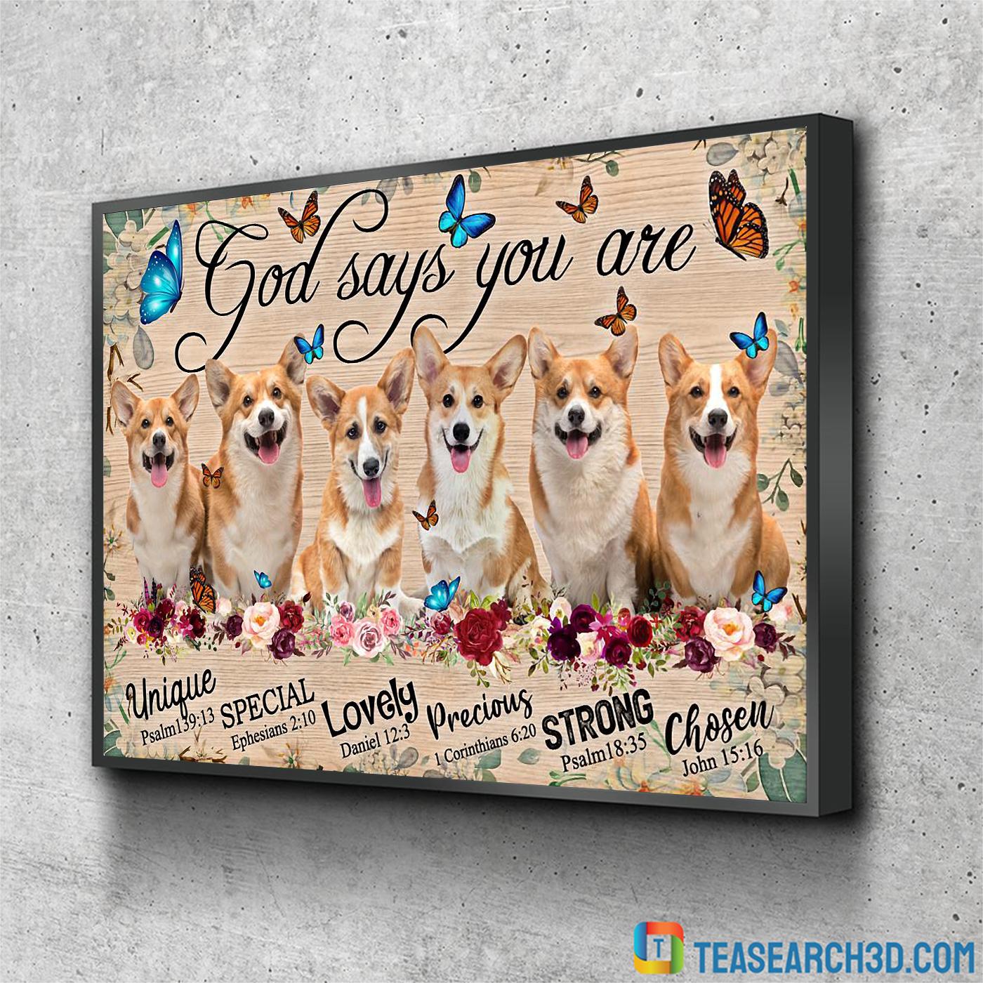Corgi god says you are poster A1